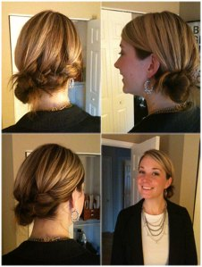 Side French Braid w/ Messy Knot