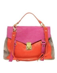 Color blocking purse